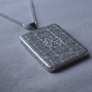 Book Necklace Platinum hidden compartment