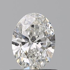 0,5 ct naturlig vit oval diamant