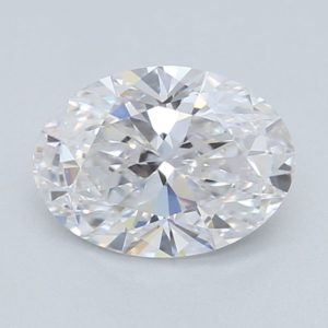 0.5 ct labbodlad vit oval diamant