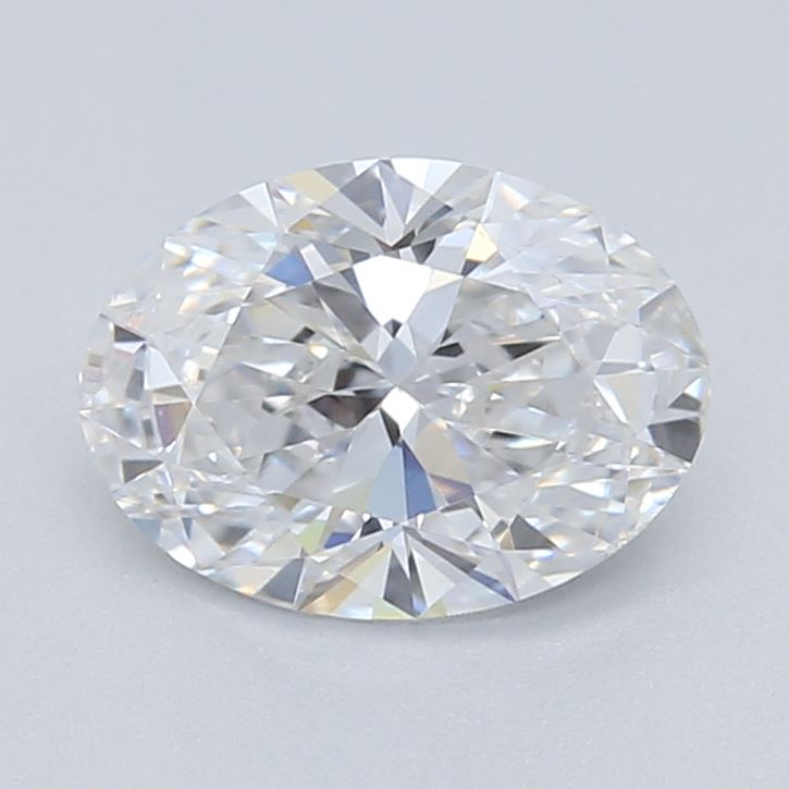 0.5 ct lab grown white oval diamond