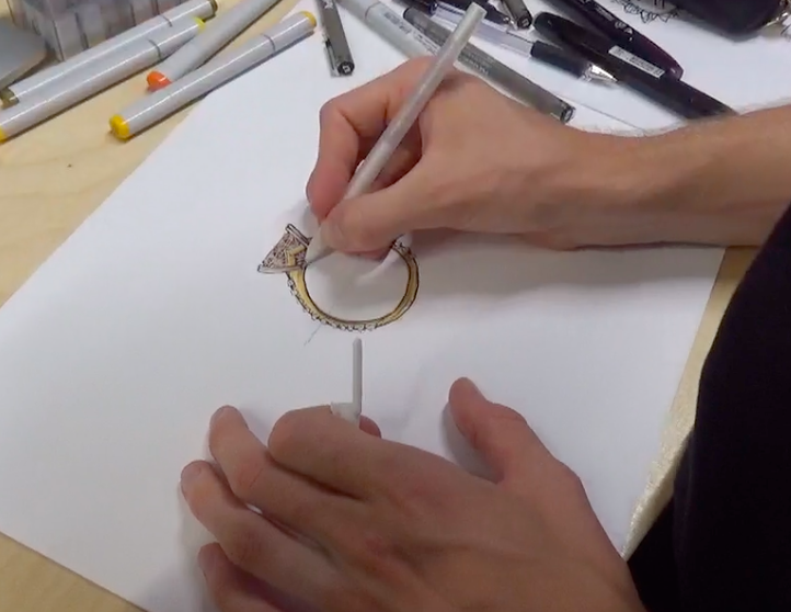 design your own wedding ring with TIDAN - design work