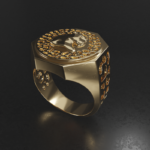 Panther ring Yellow Gold side